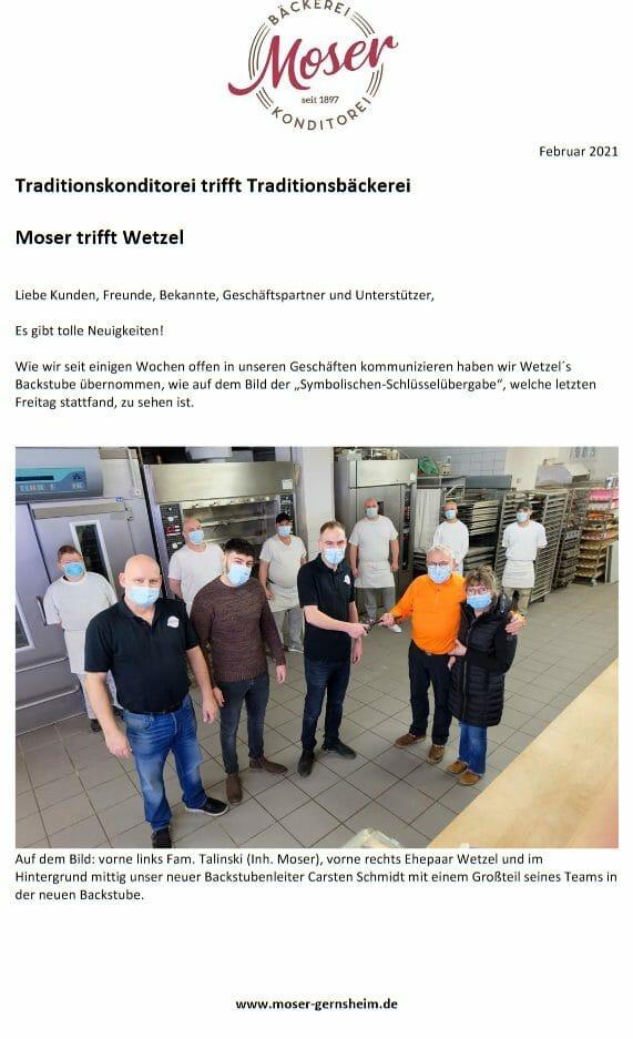 Moser trifft Wetzel